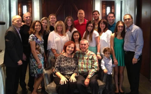 The Nashen Family celebrate George's 90th and Phyllis 85th birthdays. June 2013.