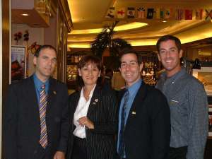 Celebrating demerger victory (June 2004) with Ruth Kovac, Anthony Housefather and Mitchell Brownstein