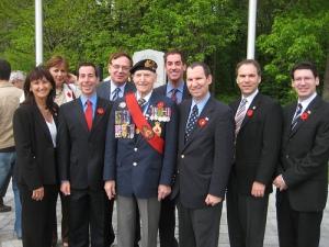 VE Day 2008: Mayor and City Council with Parade Marshall Bob Feldstein in CSL Veterans Park