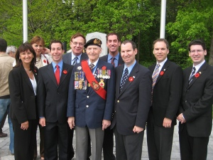 VE Day 2008: Mayor and City Council with Parade Marshall Bob Feldstein in CSL Veterans Park