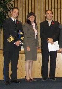 L-R: EMS Director Stephane Kallos, Councillors Ruth Kovac and Glenn J. Nashen
