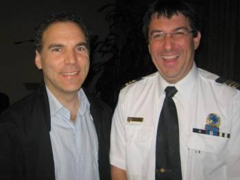Glenn J. Nashen with Police Commander Sylvain Bissonnette