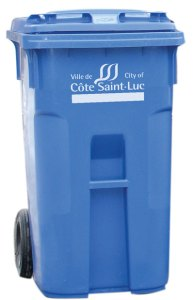 New rolling blue bins introduced this spring in CSL