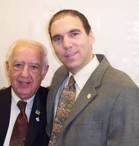 Former CSL Men's Club President Jack Budovitch with Glenn J. Nashen