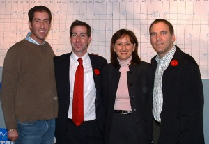 L-R: Mitchell Brownstein, Anthomny Housefather, Ruth Kovac, Glenn J. Nashen
