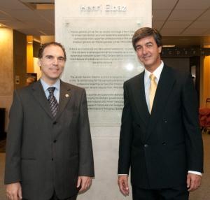 Glenn J. Nashen et Henri Elbaz à l'Hôpital général juif