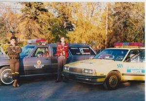 Glenn J. Nashen on duty with Urgences Santé and Jeff Silver (in brown coveralls) with EMO