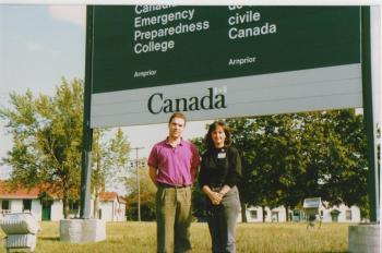 Councillors Glenn J. Nashen and Ruth Kovac enrolled at the Emergency Preparedness College of Canada 1991