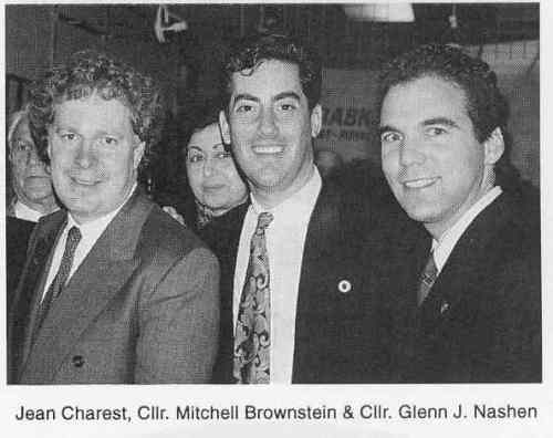 In Neil Drabkin election headquarters, Mount Royal riding, October 1993