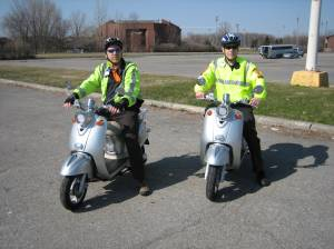 Glenn J. Nashen and Mitchell herf in service with volunteer Citizens on Patrol