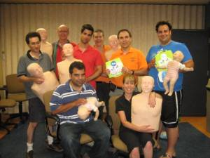 Volunteers from vCOP take a refresher in CPR and Automated External Defibrillation