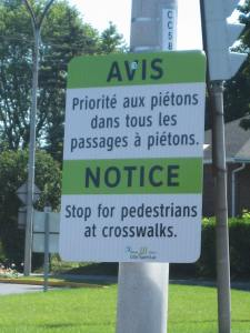 "Councillor Glenn J. Nashen launched these new pedestrian safety signs which he ""imported"" from Florida"