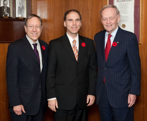 I recently had the good fortune to spend some time with former Prime Minister Jean Chretien.  M. Chretien was jovial, warm and was pleased to share his opinion on any topic.  Here we are pictured together with Mount Royal Member of Parliament Irwin Cotler.