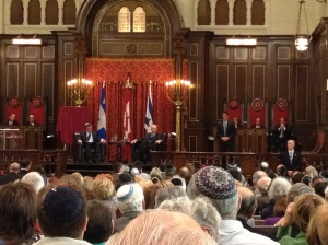 Huge crowd greets President Shimon Peres in Montreal