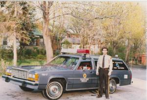 Glenn J. Nashen, on duty, in Cote Saint-Luc's second ever First Response vehicle