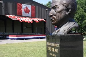 Pierre-Elliot Trudeau overlooking Cote Saint-Luc's premier park