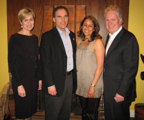 My wife Judy and I join Jean Charest and his wife Michelle for a quaint and personal dinner