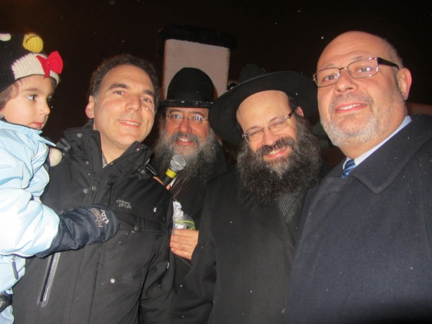 Councillor Glenn J. Nashen, Rabbi David Cohen, Rabbi Mendel Raskin and Consul General of Israel Rabbi Joel Lion