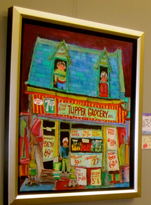 Michael Litvack's painting of Tupper Grocery caught the evil eye of the OQLF Language Police