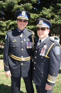 Police Commander Sylvain Bissonnette and Public Safety Director Jordy Reichson