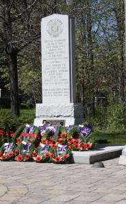 Cote Saint-Luc cenotaph in Veterans Park