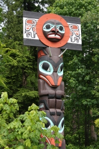 Beautiful totem poles can be found in Stanley Park