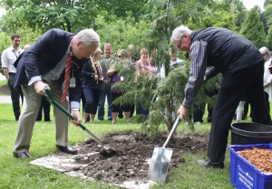 Tree planting ceremony in Stanley Park in honour of the next generation of civic leaders