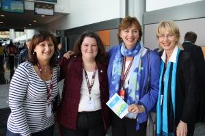 Cllr. Ruth Kovac, MP Isabelle Morin, Cllr. Dida Berku, Montreal Cllr. Helen Fotopolous