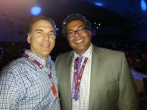 Saying hello to Calgary Mayor Nahid Nenshi, a champion of communicating with younger voters