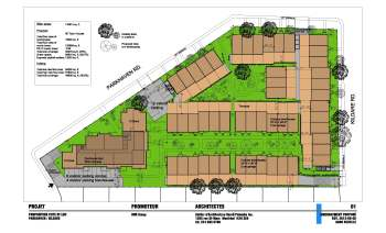 Site plan of the Griffith McConnell redevelopment project on Parkhaven Avenue at Kildare Road