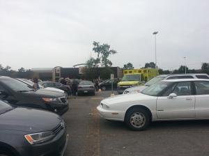 Ambulance crews respond to Cavendish Mall crash