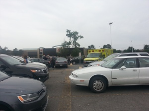 Ambulance crews respond to Cavendish Mall crash