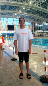 Anthony Housefather at the pool in Netanya, Israel