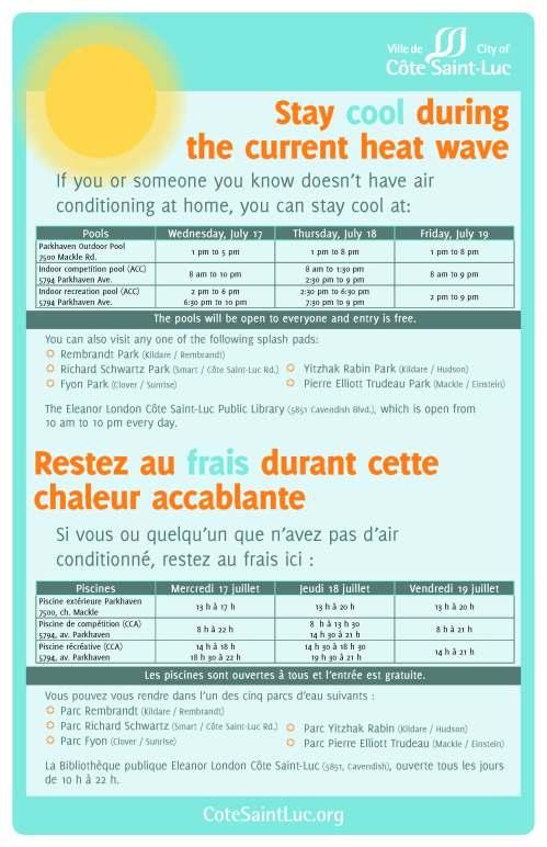 heat wave activities in CSL poster