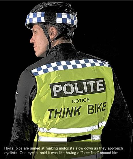 POLITE bike vest London Evening Standard