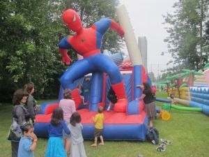 Spiderman inflatable was a Canada Day hit with the young folks