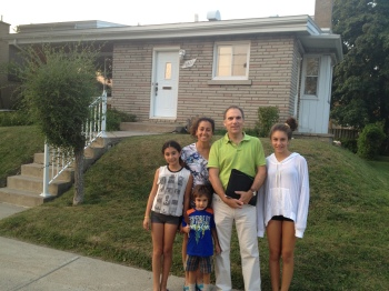 The Nashens begin the door to door campaign in front of Glenn's first home on Cork Ave in late August