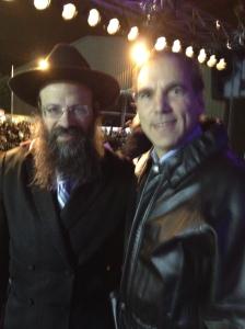 Cllr. Glenn J. Nashen celebrating with Rabbi Mendel Raskin in Trudeau Park