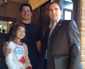 Joseph Argento and his daughter Myah took time to discuss city matters with me during tonight's door to door on Greenwood and Spring Avenues.