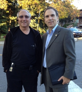 I happened upon vCOP Senior Supervisor Lewis Cohen who was out on foot patrol on Shalom last evening