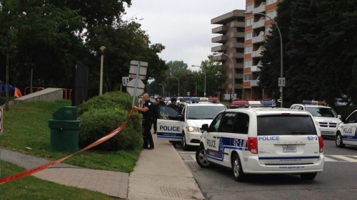 Area quickly cordoned off by police (Photo: CBC News)