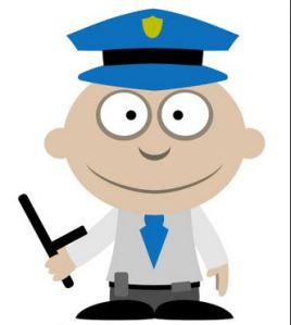police officer agent cartoon