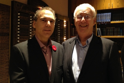 Glenn J. Nashen and Larry Nachshen at the Maimonides Geriatric Centre annual general meeting