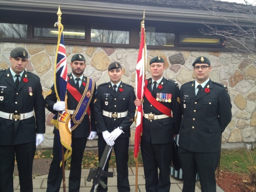 Members of the Royal Canadian Legion Branch 14 assemble at Hampstead cenotaph