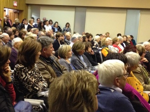 A capacity audience at Sidney Zoltak's book launch on Nov. 21