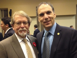 Newly re-elected Hampstead Mayor Bill Steinberg and CSL Councillor Glenn J. Nashen