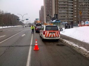 vCOP patrol assist a stranded motorist until the arrival of a towing service