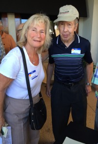The best supporters a candidate can have. Myrna and David Housefather.