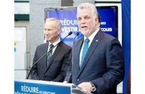 Quebec Liberal leader Dr. Philippe Couillard introduces D'Arcy McGee candidate David Birnbaum