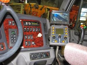 CSL snow plow camera monitor inside cab in situ
